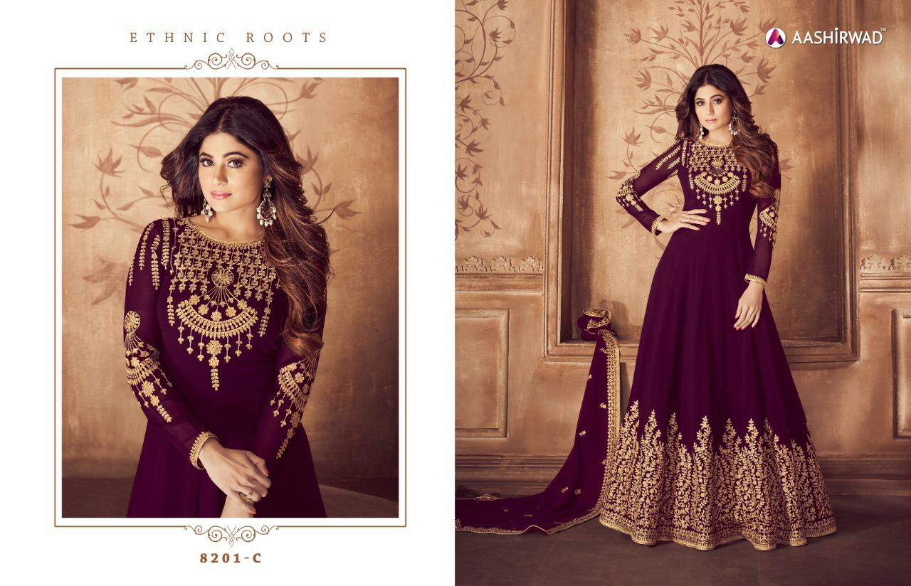bcaff4bc5c Riona gold aashirwad anarkali party wear suits Collection Wholesale ...