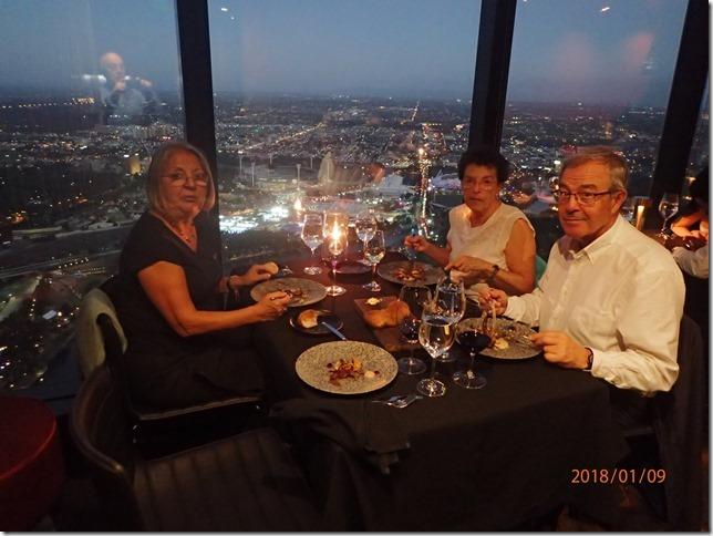 11 Melbourne cena en el piso 89