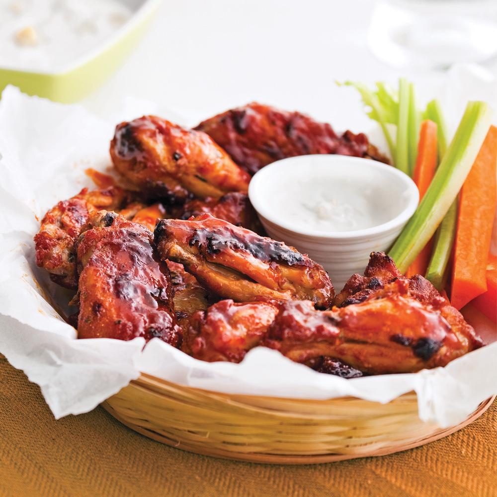 ailes et pilons de poulet, sauce barbecue à l'érable | le barbecue