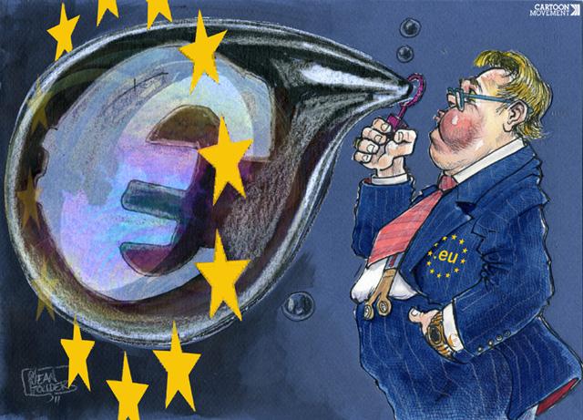 euro-blase-gelddrucken