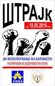 Plakat Strajk