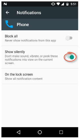 Screen remains off during incoming call Android N Phone