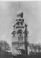Колокольня на Рогожском кладбище в Москве. Фотография. Нач. XX в.