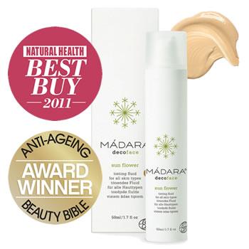 Madara eco cosmetics and skin care - Award winning sunflower tinting fluid moisturiser