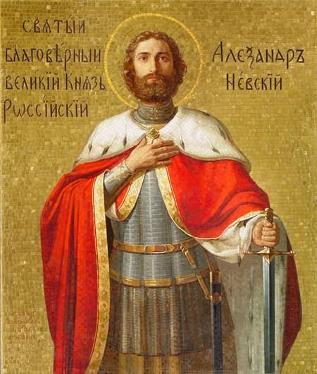 Святой благоверный князь Александр Невский. Икона 5