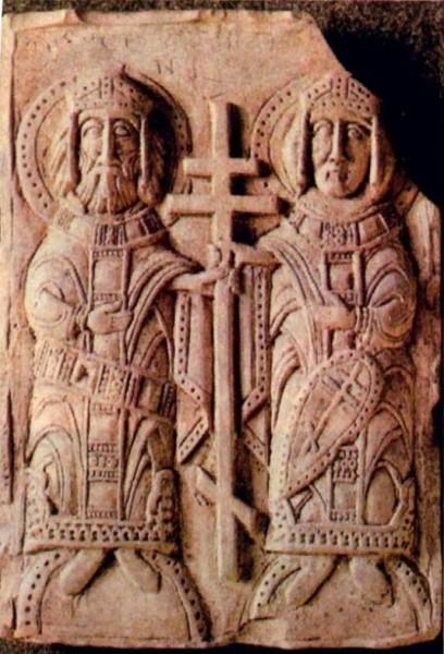 Святые равноапостольные Константин и Елена XII век, Полоцк. Воздвижение Креста Господня