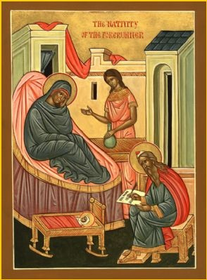 Icon of the Nativity of St. John the Forerunner