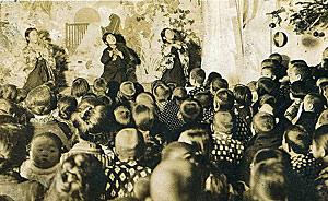 A Christmas play in Shirakawa, Japan, mid-twentieth century.