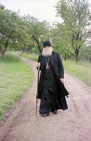 Bishop Basil (Rodzyanko) in Pochaev. Photo by the author