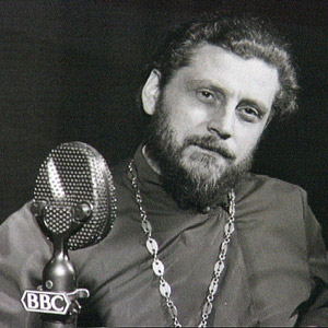 Father Vladimir Rodzyanko in the BBC Studios
