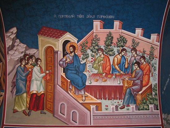 Великий Вторник. Притча о десяти девах. Современная греческая фреска