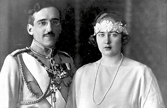 Король Югославии Александр Карагеоргиевич и королева Мария