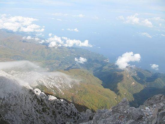 Вид с горы на Афон