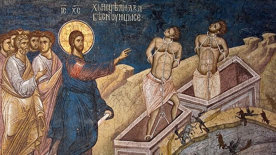 Image result for jesus gadarene swine in art