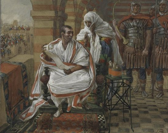 James Tissot. The message from Pilate's wife.