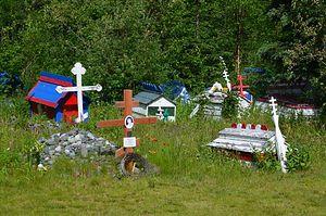 "Native Alaskan Orthodox ""spirit houses"""