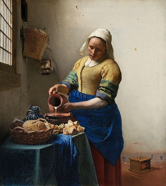 The Milkmaid, by Jan Vermeer.