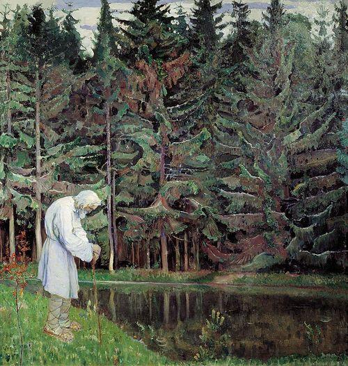 Mikhail Nesterov. Elder. Servant of God Abraham. 1914-1916