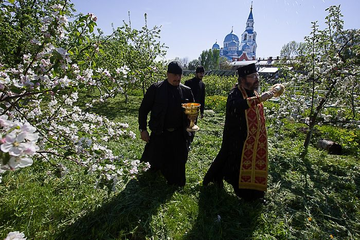Image result for an orthodox monk in the garden