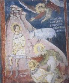 Авраамова жертва, стенопис от 15-16 в. от Драгалевския манастир