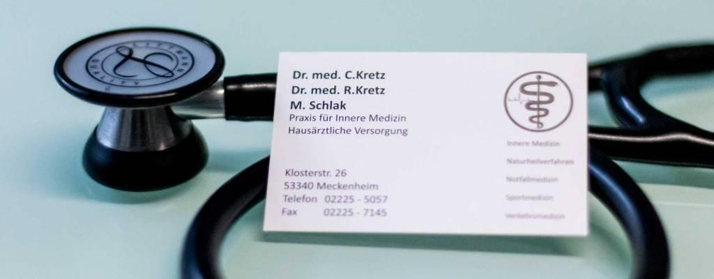 Gemeinschaftspraxis Kretz Schlak, Innere Medizin, Allgemeinmedizin Betriebsmedizin, Meckeheim