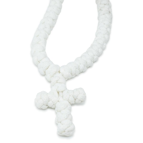 Fabulous 100 Knot White Prayer Necklace Without Dividers