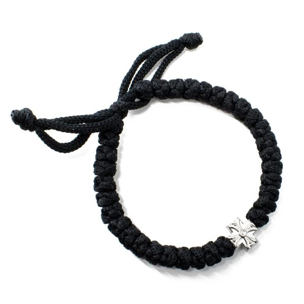 Adjustable black komboskini bracelet