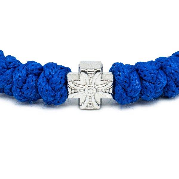 Nettes verstellbares Blaue orthodox Knoten Armband