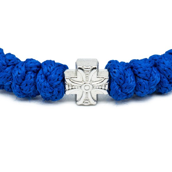 Blue Prayer Bracelet