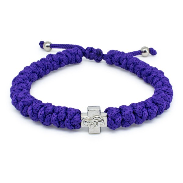 Adjustable Dark Purple Prayer Bracelet-0