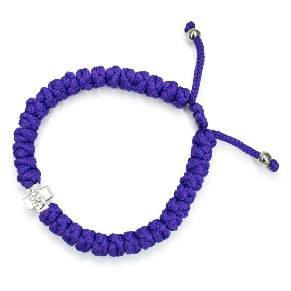 Adjustable Dark Purple Prayer Bracelet