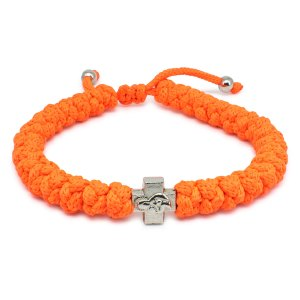 Adjustable Neon Orange Prayer Bracelet-0