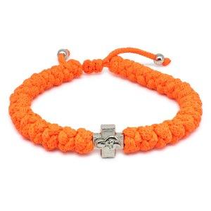 Frappantes Verstellbares Neon-orangen orthodox knoten Armband