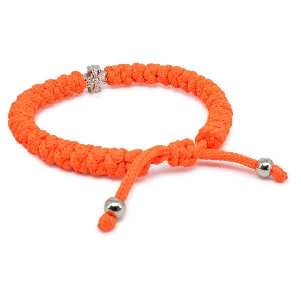 Adjustable Neon Orange Prayer Bracelet