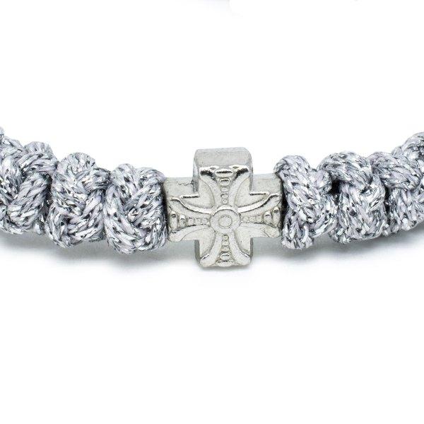 Spritziges Silberne orthodox Knoten Armband