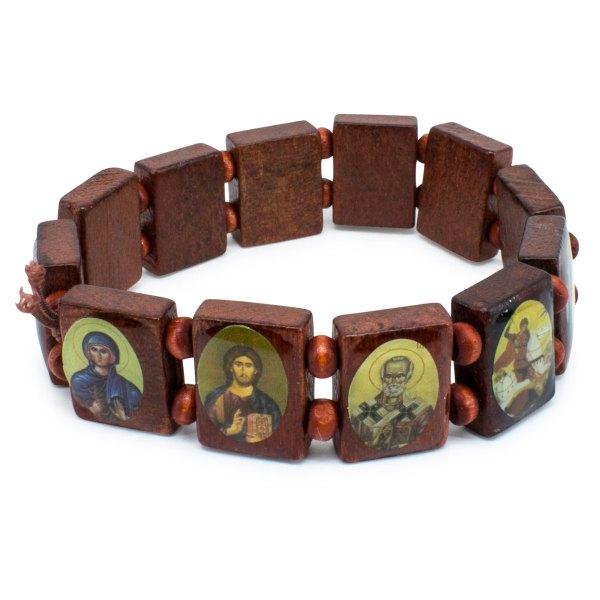 Wundervolles braunes Heiligen Armband gemacht aus Holz schiefer