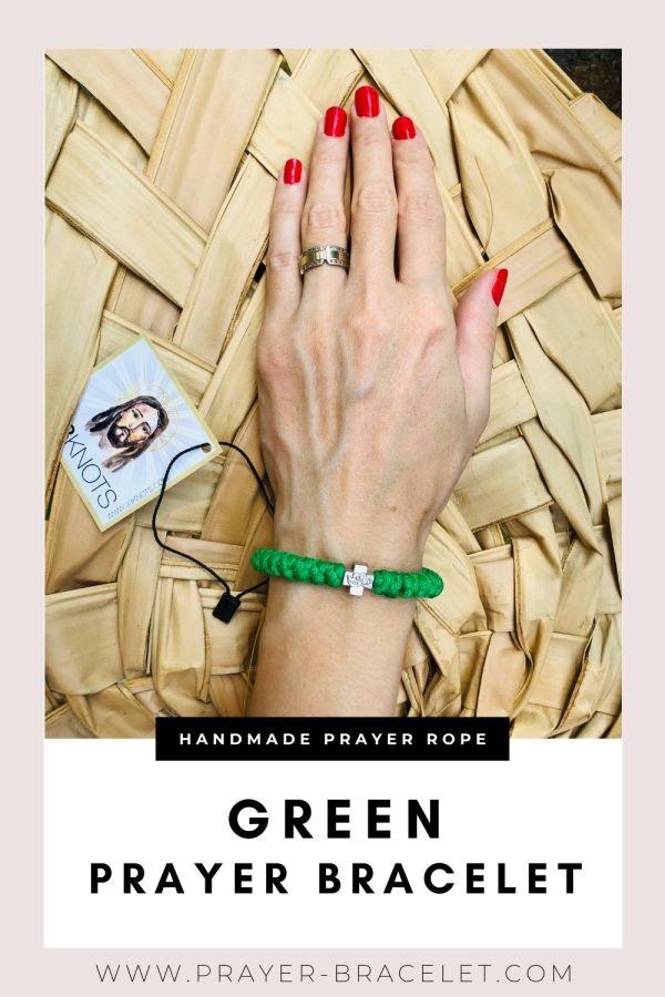 Green Prayer Bracelet - Prayer Rope - Komboskini