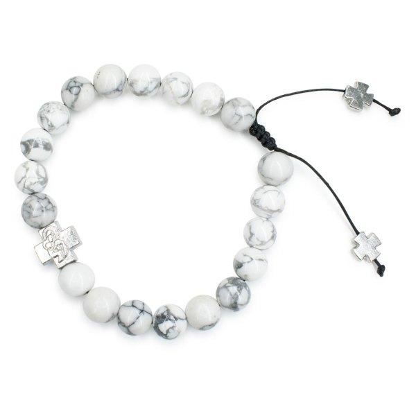 Charming Howlite Stone Prayer Bracelet