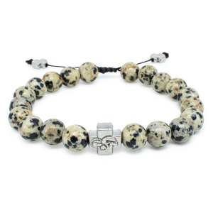 Jasper Dalmation Stone Prayer Bracelet-0