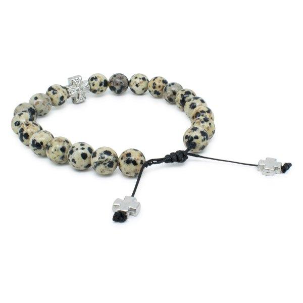 Jasper Dalmation Stone Prayer Bracelet