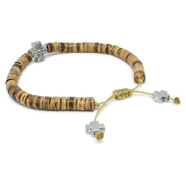 Amazing Coconut Tree Beads Wooden Prayer Bracelet
