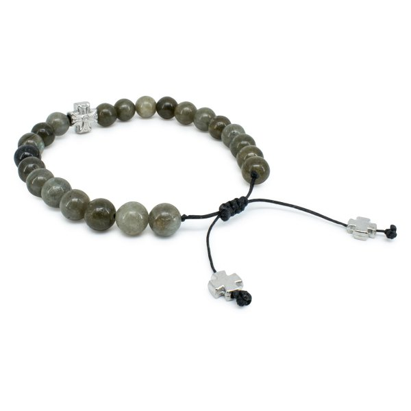 Lovely Labradorite Stone Prayer Bracelet