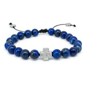 Lapis Lazuli Stone Prayer Bracelet-0