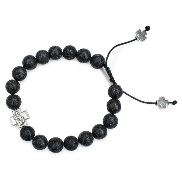 Sublime Lava Stone Prayer Bracelet