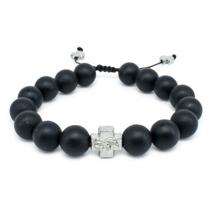 Matte Onyx Stone Prayer Bracelet-0