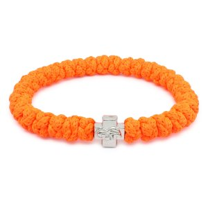 Flammiges Neonorange orthodox Knoten Armband
