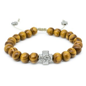 Olive Tree Beads Wooden Prayer Bracelet-0