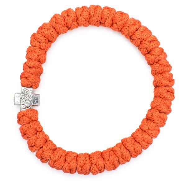 Gefälliges Orange orthodox Knoten Armband
