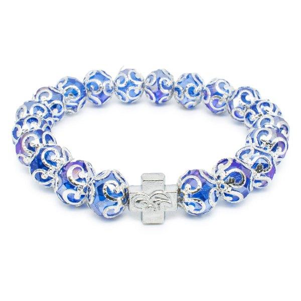 "Purple Glass Prayer Bracelet ""Helena""-0"