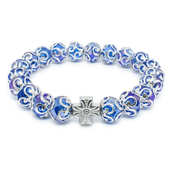 "Phenomenal Purple Glass Prayer Bracelet ""Helena"""